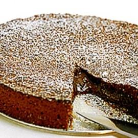 kladdig chokladtårta
